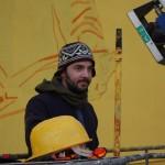 Mattia Campo Dall'Orto durante il work in progress de Work in progress ''Lo trattenemiento de' peccerille''