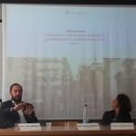 Luca Borriello, direttore ricerca INWARD, presenta il Parco dei Murales al convegno ''Da Ricercatore a Startupper - come creare un'impresa nel settore culturale/turistico'' organizzato da CulTur HUB