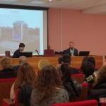 """Luca Borriello, direttore ricerca INWARD, espone l'intervento """"Streetness. Scenari, sistemi e mercati della street art""""  per il programma """"Contemporaneo al lavoro"""" organizzato dalla SUN - Seconda Università di Napoli"""