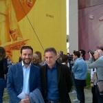 Al tour hanno preso parte anche Umberto De Gregorio, presidente EAV, e Ciro Borriello, assessore allo Sport, al Decoro urbano e alle Aree degradate del Comune di Napoli