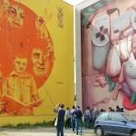 Primo tour di street art al Parco dei Murales con l'associazione culturale Econote e INWARD