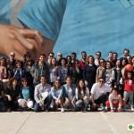 I partecipanti al primo tour di street art al Parco dei Murales