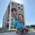 """Tour di street art con il LET """"Terra Mia - Stella San Carlo all'Arena"""" in visita al Parco dei Murales"""