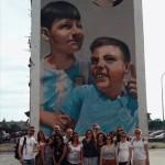 """Tour di street art con gli enti della Rete """"IoConto"""" promossa da Cesvi Fondazione Onlus: Coop. il Grillo Parlante Onlus (Napoli), Consorzio FA (Bergamo) e Fondazione Giovanni Paolo II (Bari) ."""