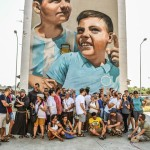 Tour di street art al Parco dei Murales i partecipanti al campo GPIC dei Frati Minori d'Italia