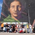 Centro Interculturale Nanà in visita al Parco dei Murales