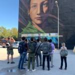 """Street art tour con l'archittetta Anna Attademo e agli studenti del corso di """"Laboratorio di Sintesi. Trasformare il Territorio - III anno del CdS UPTA"""" del Dipartimento di Architettura di Napoli"""