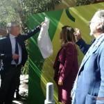 Paolo Siani, fratello di Giancarlo, svela la targa insieme con Alessandra Clemente, Assessorato ai Giovani, Creatività, Innovazione - Comune di Napoli