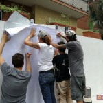 ''Un Murale per Giancarlo Siani'' work in progress