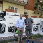 Paolo Siani e Walter Contipelli per ''Un Murale per Giancarlo Siani''