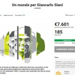 """""""Un Murale per Giancarlo Siani"""": la cifra raggiunta sulla piattaforma DeRev"""