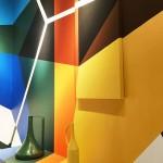 L'opera anamorfica del Truly Design all'interno dello stand Doimo al Salone del Mobile di Milano 2017