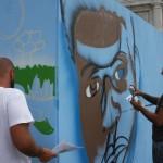 W3 per la Giornata Internazionale del Rifugiato, artisti a lavoro