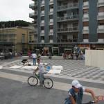 W3 a San Giorgio a Cremano, costruzione del cubo in Piazza Massimo Troisi