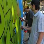 W3 a Castellammare di Stabia, artisti a lavoro