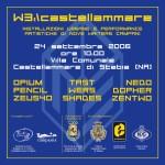 W3 nella villa comunale di Castellammare di Stabia, flyer