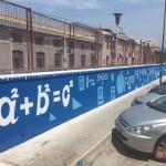 """""""Street Maths"""", l'intervento di Zeus40 presso la stazione di San Giovanni a Teduccio"""