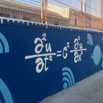 """""""Street Maths"""", l'intervento di Zeus40 presso la stazione di San Giovanni a Teduccio, particolare"""
