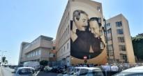 """""""Giovanni e Paolo"""", l'opera di Rosk&Loste a Palermo. Foto di Mike Palazzotto."""