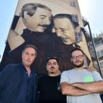 Gli artisti Rosk&Loste con il fotografo Tony Gentile (foto di Mike Palazzotto)