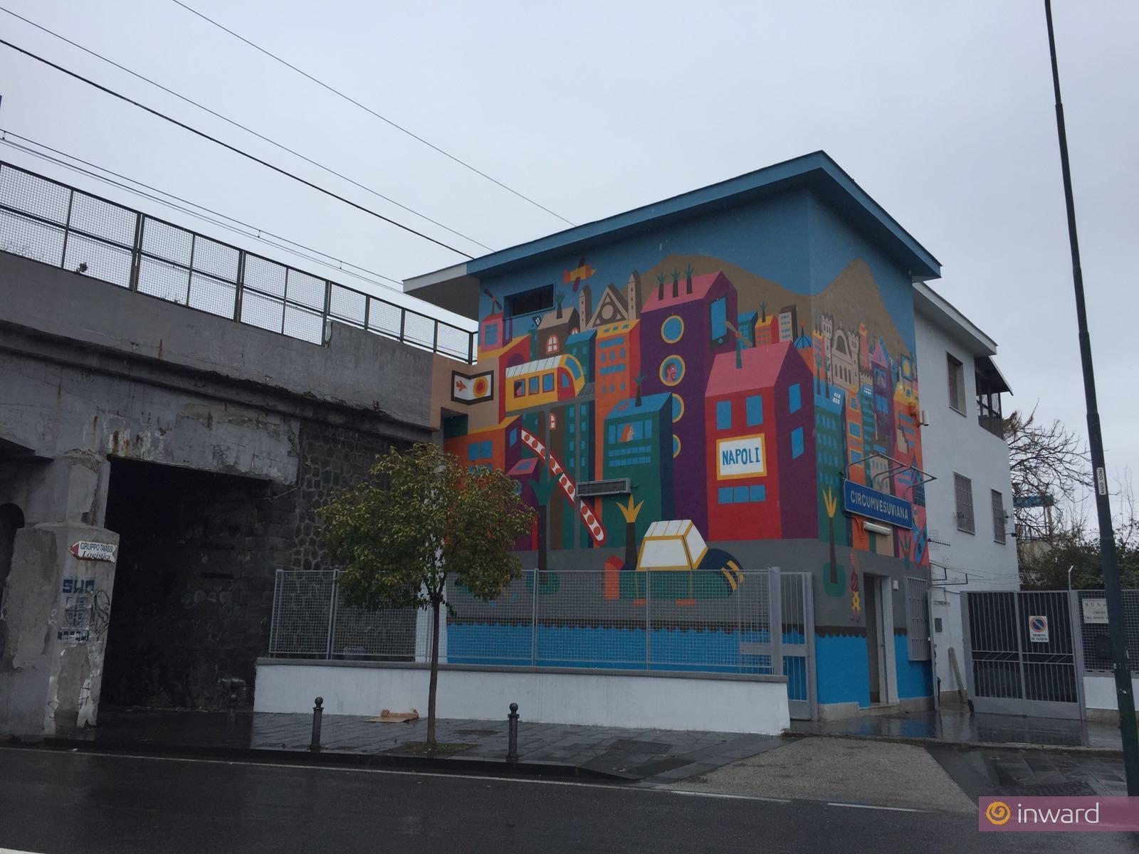 L'opera di Geometric Bang a Napoli
