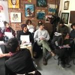 """""""Oculus – Giovani Operatori per la Creatività """": lezione in aula con Luca Pichestein presso Docks74 Art Gallery di Torino"""