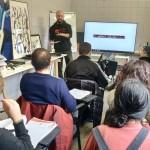 """""""Oculus – Giovani Operatori per la Creatività """": lezione in aula con Ruben Marchisio in arte Hemo presso  Ink Club ARCI di Bergamo"""