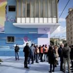 L'opera di Kerotoo ad Agnano: inaugurazione. Foto di Riccardo Siano
