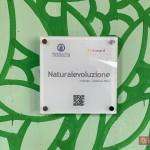 """""""Naturalevoluzione"""": targa con QRcode"""