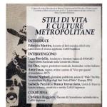 """""""Stili di vita e culture metropolitane"""": locandina"""